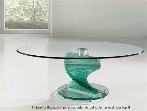 Table legs adopt steel tubes, which are. Modern Italian oval glass top coffee table.   in Watford, Hertfordshire   Gumtree
