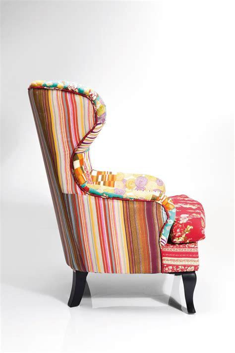 fauteuil 192 oreilles rembourr 201 en tissu de style