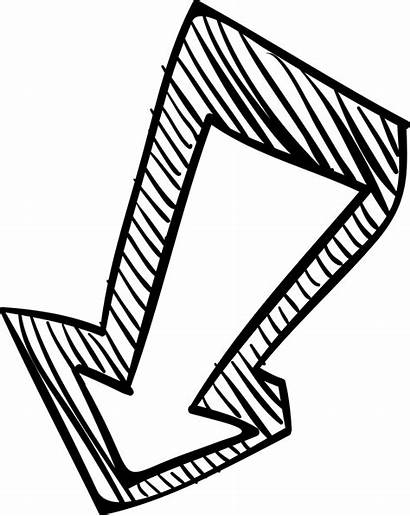 Arrow Down Sketch Pointing Icon Svg Onlinewebfonts