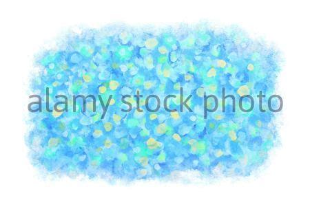 turquoise vert bleu couleurs aquarelle pinceau humide