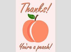 You are a Peach! Thank You Card Birthday & Greeting