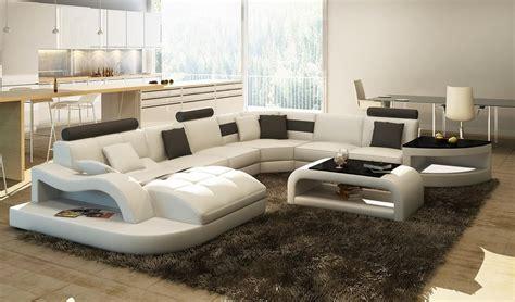 canapé d angle cuir design deco in canape d angle design panoramique blanc et noir istanbul gauche pano blanc noir
