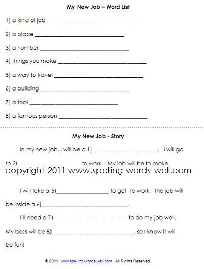 grade worksheets  fun spelling practice