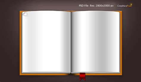 Download Blank Book Template Psd File & Icons Graphicsfuel