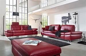 Leder Online Kaufen : k w dive 7474 ledersofa rot m bel letz ihr online shop ~ Watch28wear.com Haus und Dekorationen
