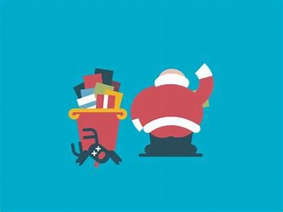 Santa Packing Christmas Merry Dribbble Funny Happy