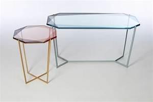 Petite Table En Verre : petite table en verre table basse contemporaine blanche trendsetter ~ Teatrodelosmanantiales.com Idées de Décoration