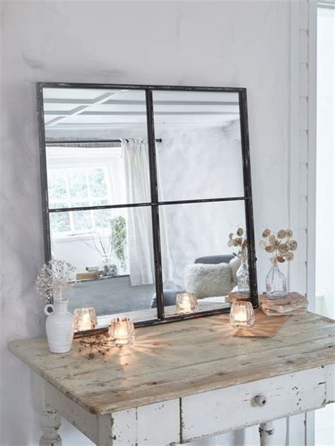loft style window mirror industrial mirror  panel mirror