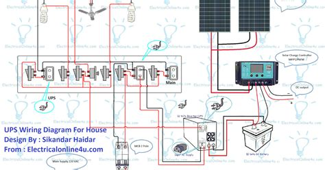 Ups Wiring Diagram With Solar Panel For House Electrical