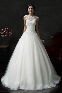 beautiful ball gown cap sleeve organza lace wedding dress With beautiful ball gown wedding dresses