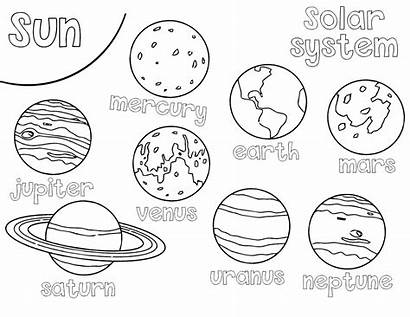 Solar Coloring System Pages Elementary Students Solarsystem