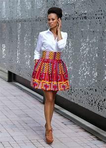 Melange+Mode+African+Print+Flirty+Skirt+by+MelangeMode+on ...