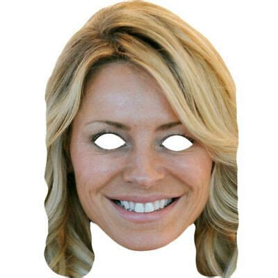 Tess Daly Celebrity Card Strictly Come Dancing Face Masks ...
