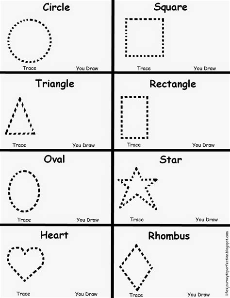 preschool shapes worksheet lifes journey to perfection
