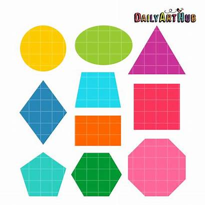 Shapes Basic Clip Clipart Objects Cliparts Graphic