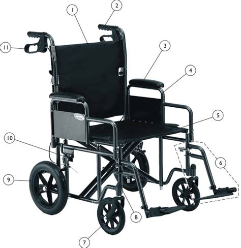 Invacare Transport Chair Manual replacement parts for invacare heavy duty transport