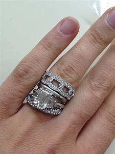 plain engagement ring with diamond wedding band With plain wedding rings