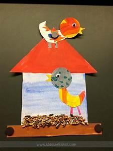 Vögel Im Winter Kindergarten : klassenkunst bunte v gel im winter kunst grundschule ~ Whattoseeinmadrid.com Haus und Dekorationen