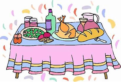 Buffet Clipart Table Clip Dinner Cliparts Lunch