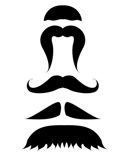 printable mustache template wikihow mustache template
