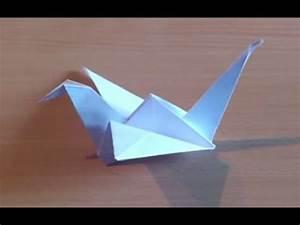 Faire Des Origami : faire une grue en origami fabriquer une grue qui vole en papier youtube ~ Nature-et-papiers.com Idées de Décoration