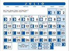 Calendario Lunar Julio de 2017