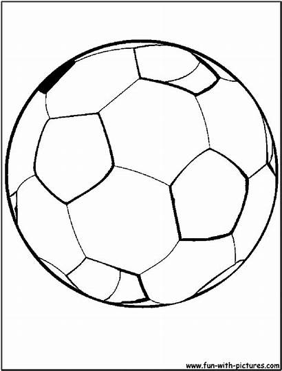 Coloring Soccer Ball Football Pages Sports Drawing