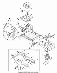 Troy Bilt 13yx79kt011 Horse Xp  2015  Parts Diagram For Frame And Pto Lift