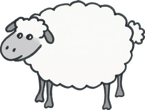 sheep craft template clipart