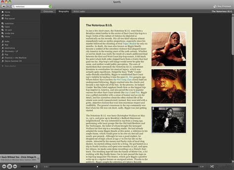 artist bio review spotify on demand paulstamatiou