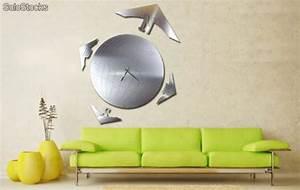 Decoration Murale Acier : horloge murale en acier globe xl ~ Teatrodelosmanantiales.com Idées de Décoration