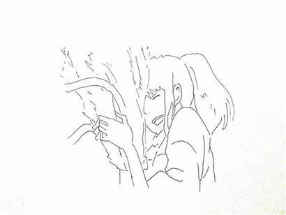 Spirited Haku Chihiro Away Drawing Step Shadow