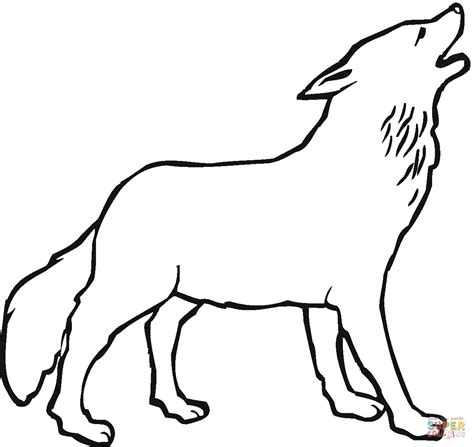 wolf coloring book wolf howling moon coloring pages and print for free