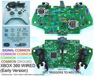 Xbox 360 And Original Xbox Controller Pcb Diagrams