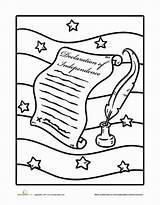 Declaration Independence Coloring Pages Worksheets Worksheet Education July Studies Social History Constitution Jefferson Grade Sheets Thomas Revolution Printable Holiday Sheet sketch template