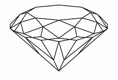 Coloring Diamond Pages Shape Shapes Jewel Brilliant
