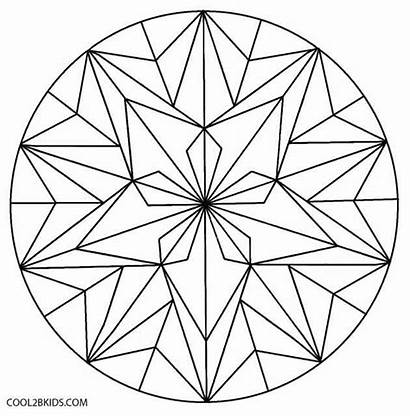 Geometric Coloring Pages Flower Patterns Kaleidoscope Islamic
