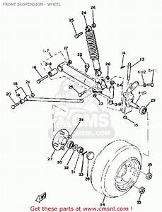 Yamaha G1-e2 Golf Car 1981 Front Suspension - Wheel