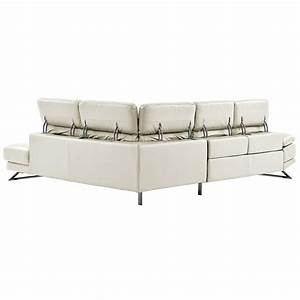White sectional leather sofa modern image the sofas madrid for Leather sectional sofa sale toronto