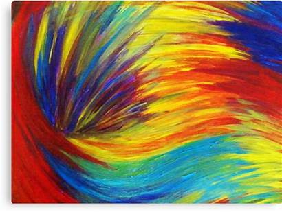 Explosion Painting Abstract Transparent Rainbow Happy Acrylic