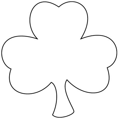 clover template clover outline clipart clipart suggest