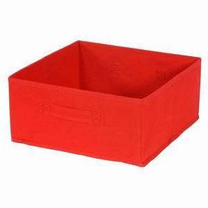 Panier De Rangement : panier de rangement rectangle intiss rouge mixxit castorama ~ Teatrodelosmanantiales.com Idées de Décoration