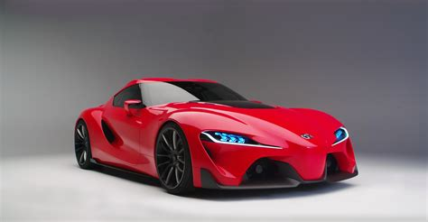 Car, Red Cars, Vehicle, Toyota Ft 1, Gray Background
