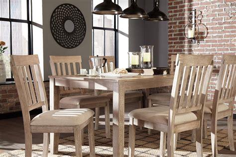 ashley mattilone  dining room set pcs  white wash