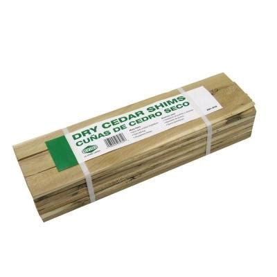 Laminate Floor Spacers Home Depot Canada by 15 In Cedar Contractor Shim 42 Pack 234500 The Home Depot