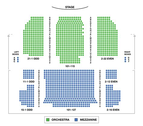 westchester broadway theatre seating chart seating chart neil simon theatre large broadway seating charts