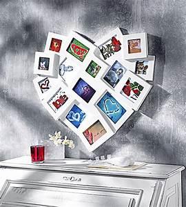 Großer Bilderrahmen Für Mehrere Bilder : bilderrahmen in herzform f r 16 fotos farbe weiss ~ Bigdaddyawards.com Haus und Dekorationen