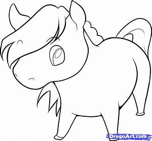 How to Draw an Easy Horse, Step by Step, Farm animals ...