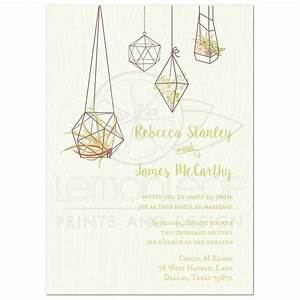 wedding invitation hanging air plant and succulents With z card wedding invitations