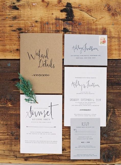 super chic minimalist wedding invites brit